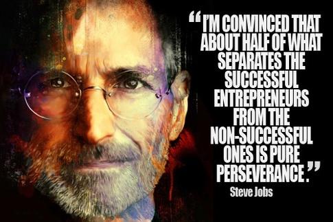Steve Jobs.perseverance